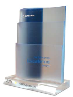 TRICOR Systems Inc. 2011 Gold Boeing Performance Excellence Award